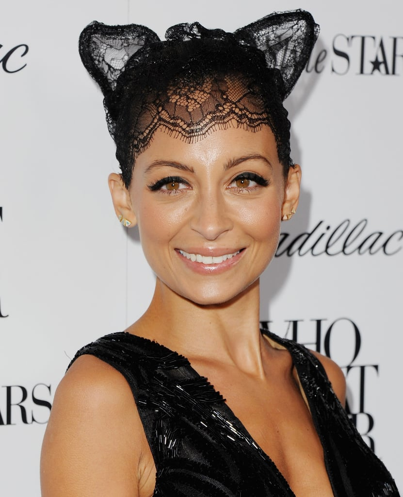 Nicole Richie Lace Cat Ears and Veil | Halloween Costume