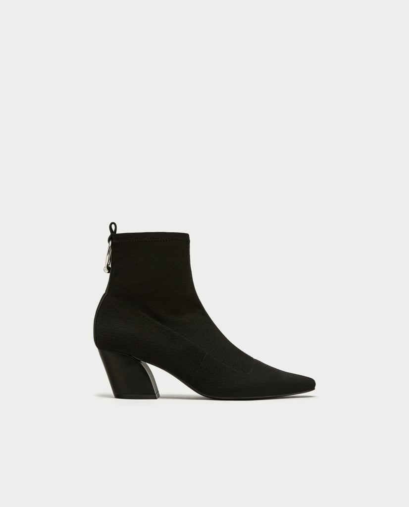 High Heel Ankle Boots with Ring Detail (£30)