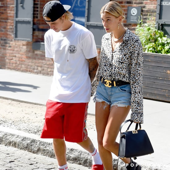 Hailey Baldwin's Denim Shorts With Justin Bieber 2018