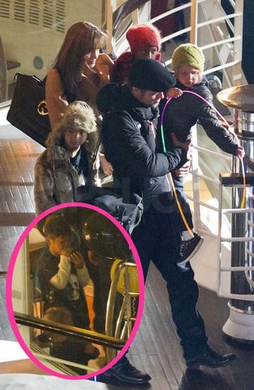 Pictures of Angelina Jolie, Brad Pitt, Shiloh Jolie-Pitt, Maddox, Pax, and Zahara in Paris
