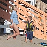 Reese Witherspoon and Deacon Phillippe together in Malibu.