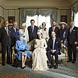 George and Kate took the center spot in this family portrait, which was taken in the Morning Room at Clarence House in London.