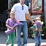 Mark Wahlberg ran errands with his boys, Michael and Brendan, in LA.