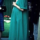 Princess Diana's Green Polka-Dot Dress, 1982