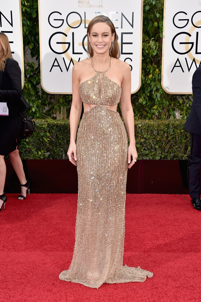 Brie Larson S Calvin Klein Dress At Golden Globes 2016
