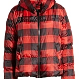 Kendall + Kylie Oversized Plaid Puffer Jacket