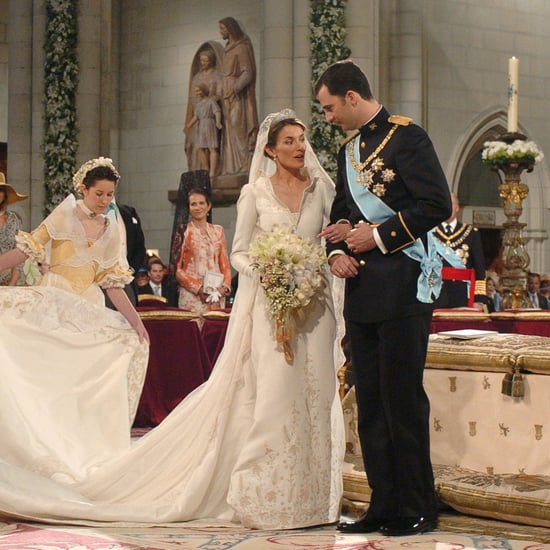 Who Designed Queen Letizia of Spain's Wedding Dress?
