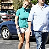Britney Spears made her way through a parking lot in LA.