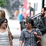 Jennifer Aniston and Justin Theroux together in NYC.