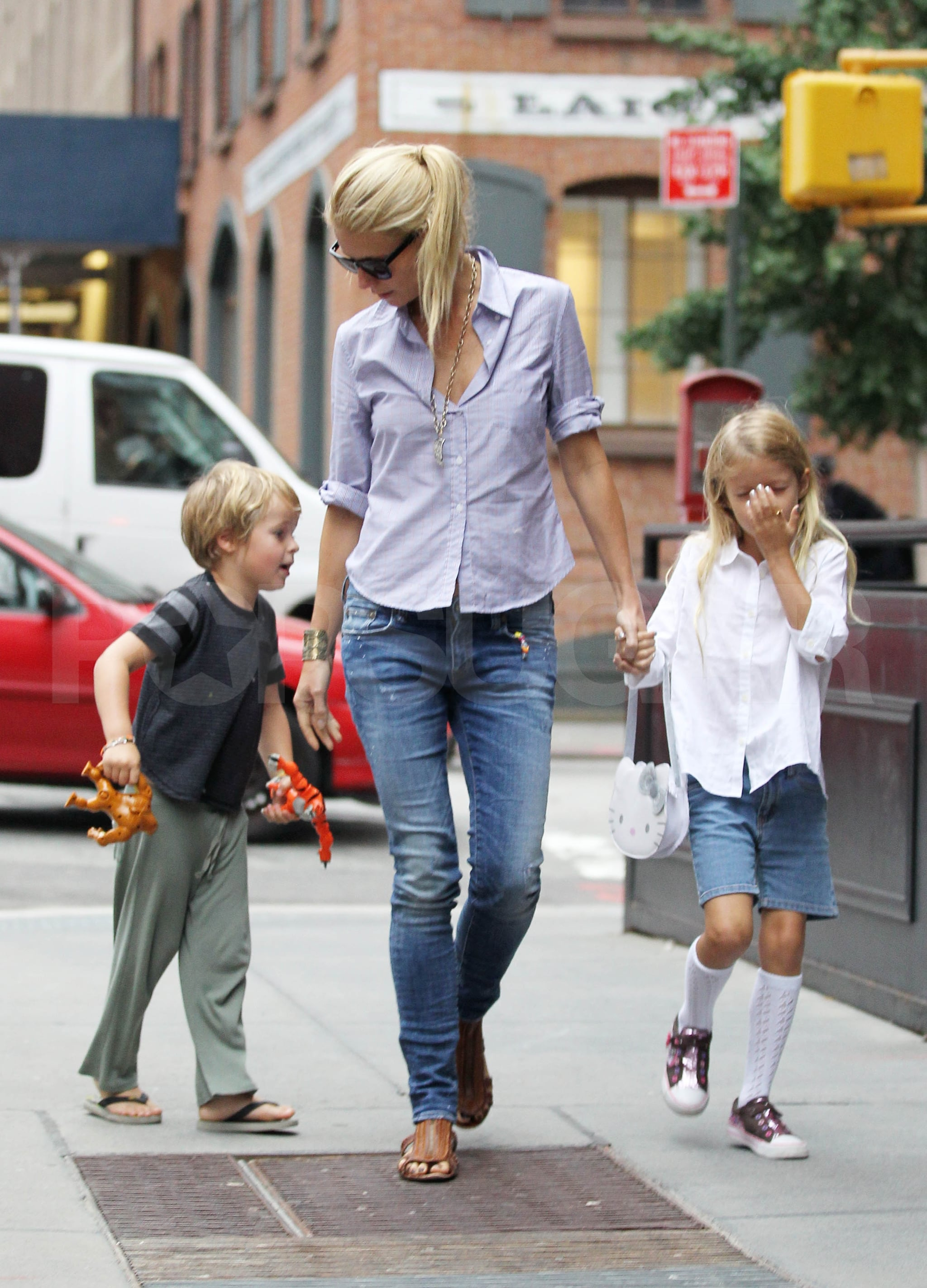 Gwyneth Paltrow Birthday Pictures With Apple And Moses Martin Popsugar Celebrity