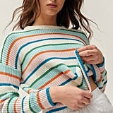 UO Andi Intarsia Knit Crew Neck Sweater