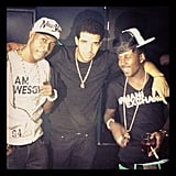 Drake spent time with some buddies while at home in Canada. Source: Instagram user champagnepapi
