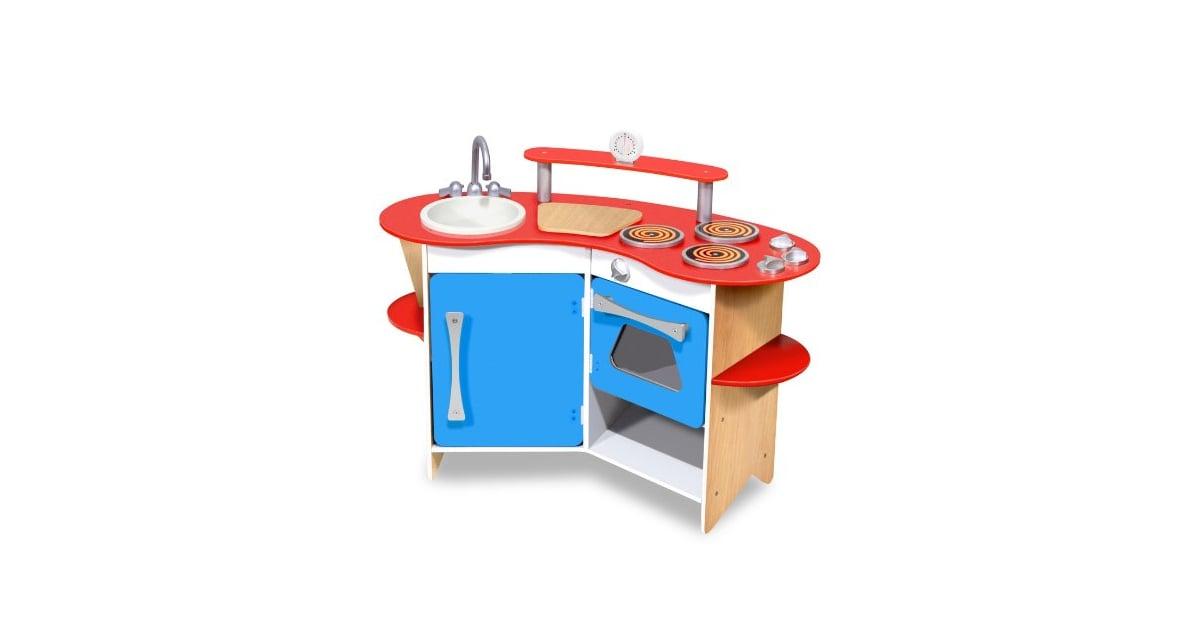 Melissa & Doug Cook\'s Corner Wooden Kitchen | Stir It Up ...
