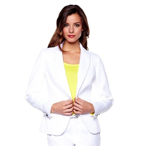"""IMAN Global Chic """"Spring Crush"""" Blazer Slip into something more couture with this sophisticated, one-of-a-kind blazer featuring high-quality fabric in a textured python-print design. Bonus: it feels as amazing as it looks."""