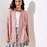 LOFT Shirttail Open Cardigan