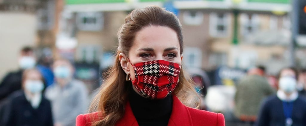 Kate Middleton Dons Tartan Emilia Wickstead Face Mask | 2020