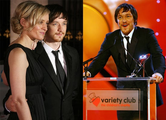 Photos of James McAvoy at Variety Club Showbusiness Awards Alongside Kenneth Branagh, Michael Caine, Noel Edmonds and Alan Carr