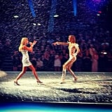 1. Taylor Swift and Karlie Kloss shared a memorable moment on the runway while fake snow fell from the ceiling.  Source: Instagram user karliekloss