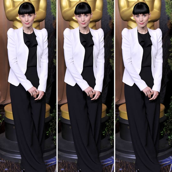Rooney Mara White Jacket