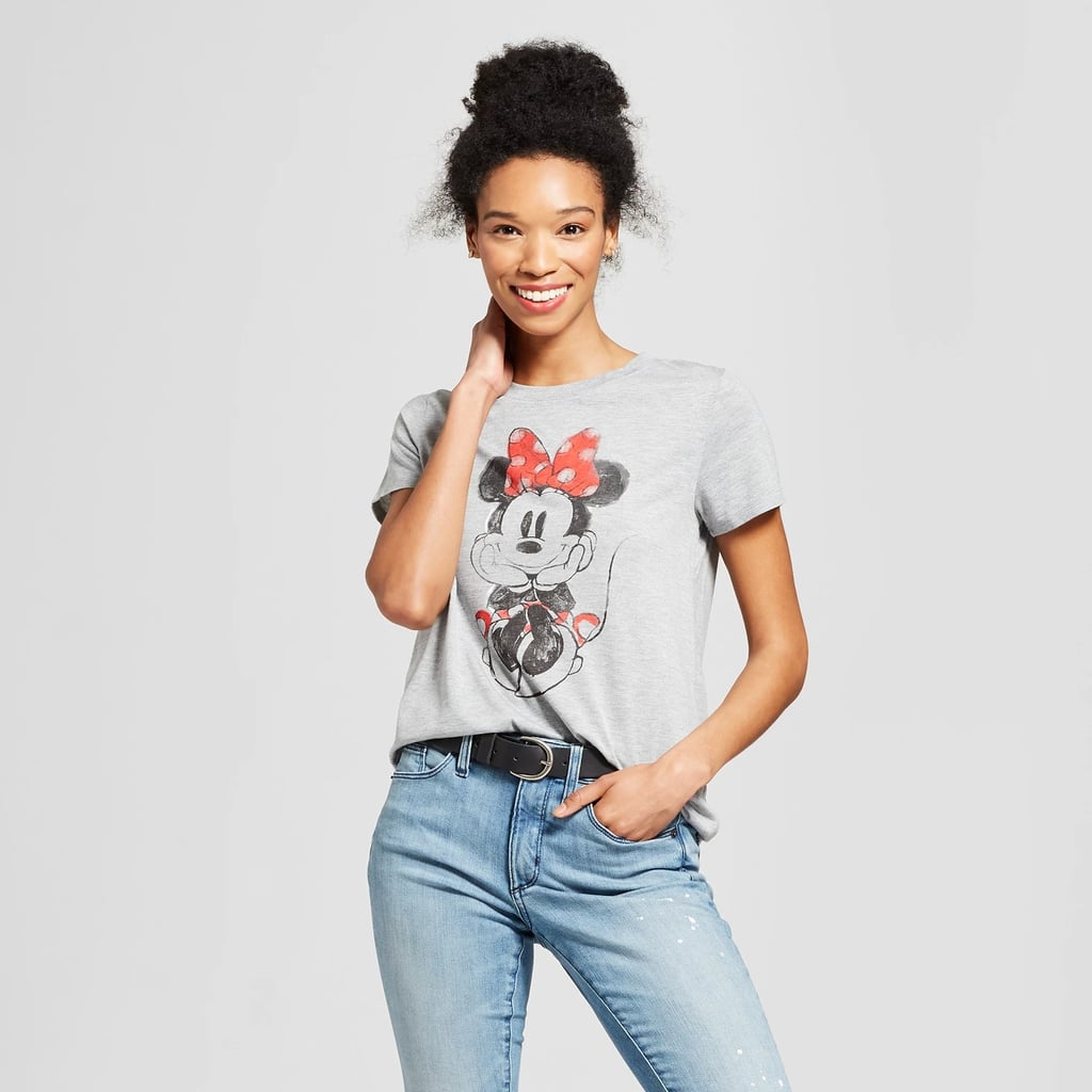 Minnie Mouse Short Sleeve Watercolor Graphic T-Shirt
