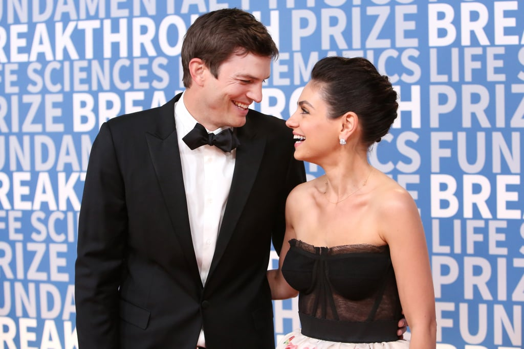 After playing onscreen couple Jackie and Kelso for years on That '70s Show, Mila Kunis and Ashton Kutcher's real-life romance didn't blossom until 2012. Although it took a while for them to officially get together, once the couple started dating, their relationship quickly turned serious. The two eventually married in July 2015 and later became parents to two adorable children, Wyatt Isabelle and Dimitri Portwood Kutcher. While they may be one of Hollywood's hottest couples, the low-key pair also seems completely down to earth. Whether they are walking the red carpet, taking in a ballgame, playing ping-pong together, or attending a premiere, the couple always looks totally in love. Keep reading to see some of Mila and Ashton's cutest moments from over the years.