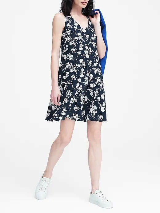 Floral Drop-Waist Shift Dress