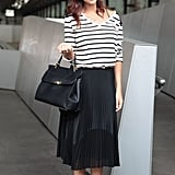 Pick a Slouchy Striped Tee and Strappy Sandals