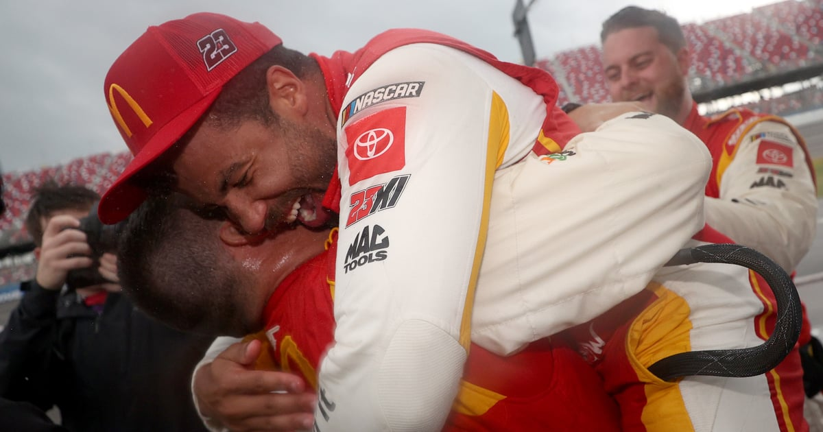 Bubba Wallace Realized He Made History at Talladega Superspeedway