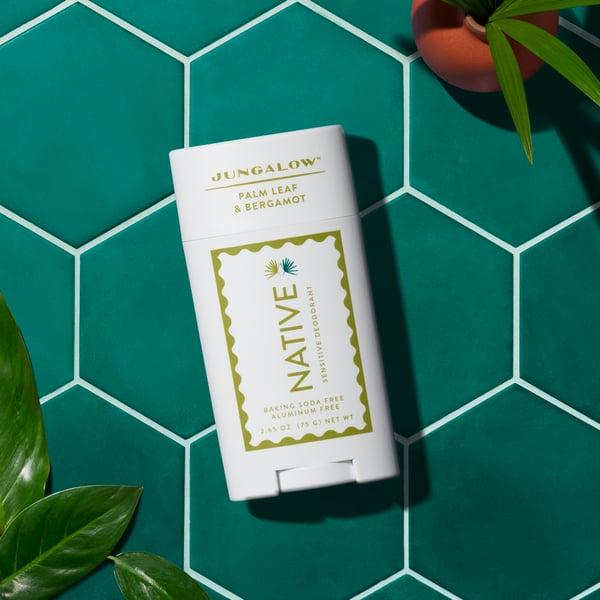 Native x Jungalow Palm Leaf & Bergamot Sensitive Deodorant