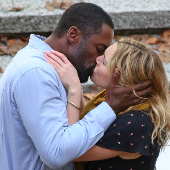 Idris Elba and Kate Winslet Kissing on Set Feb. 2017