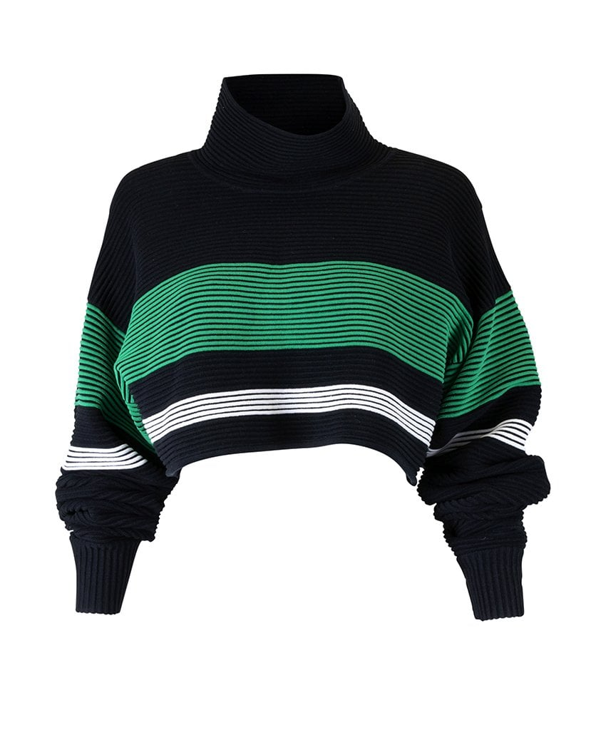 Nagata Cropped Retro Rib Sweater