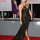 Vanessa Hudgens worked her train on the red carpet.