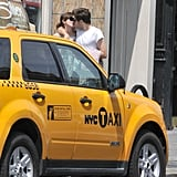 James Righton kissed fiancée Keira Knightley in front of a taxi in NYC.