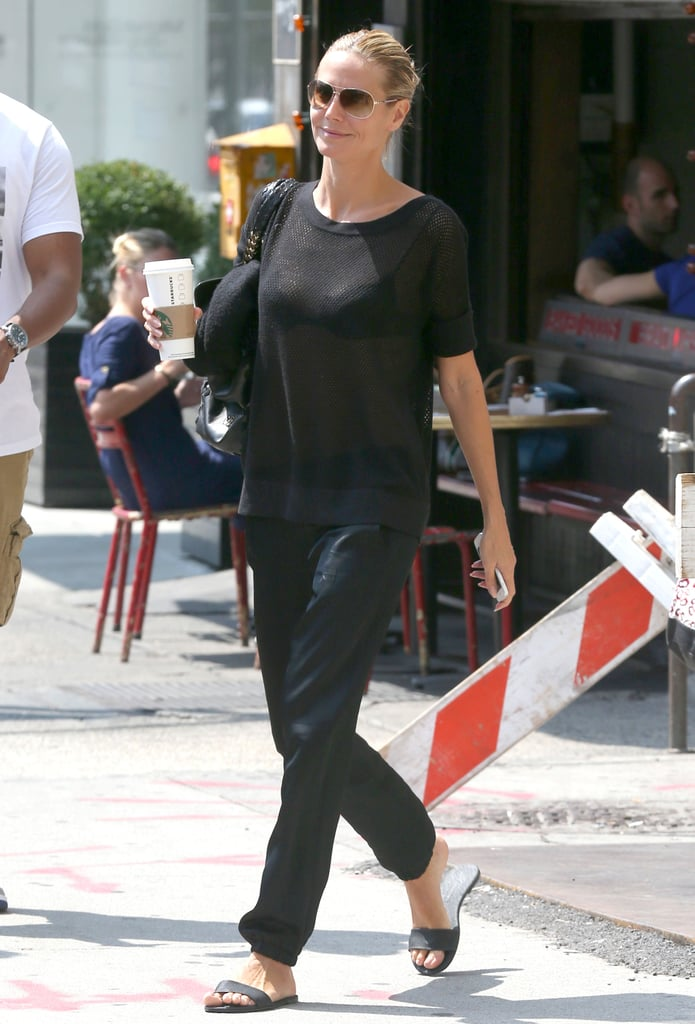 Heidi Klum kept it casual in NYC on Tuesday.