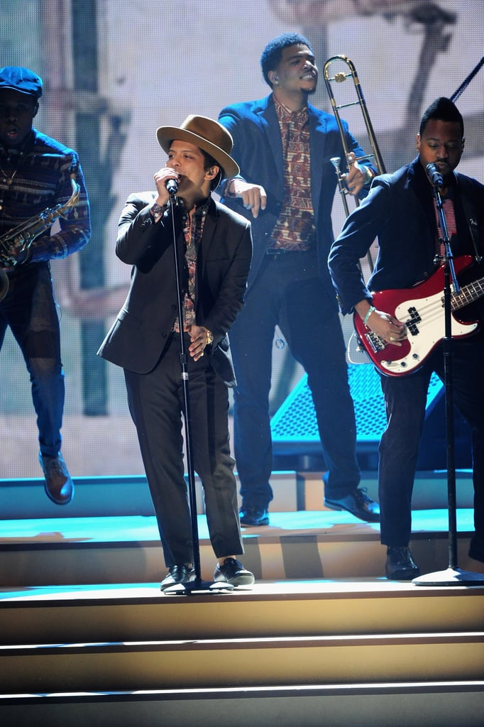 Bruno Mars performed at the Victoria's Secret Fashion Show.