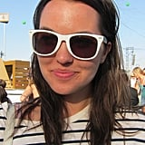 Don't be afraid of bright white sunglasses. They have a slight preppy feel and scream summertime fun!