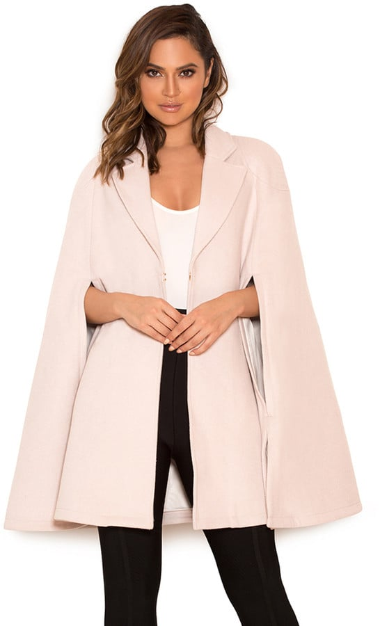 House Of CB 'Marli' Cream Wool-Mix Cape Coat (£139)