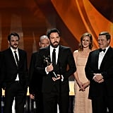 Ben Affleck and the cast of Argo accepted their SAG Award.