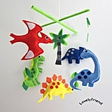 Dinosaur and Coconut Palm Tree Nursery Mobile