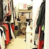 Here is a picture of my closet before the clean out. Sure, it wasn't super messy or ridiculously overcrowded, but over half of the contents didn't fit my current life.