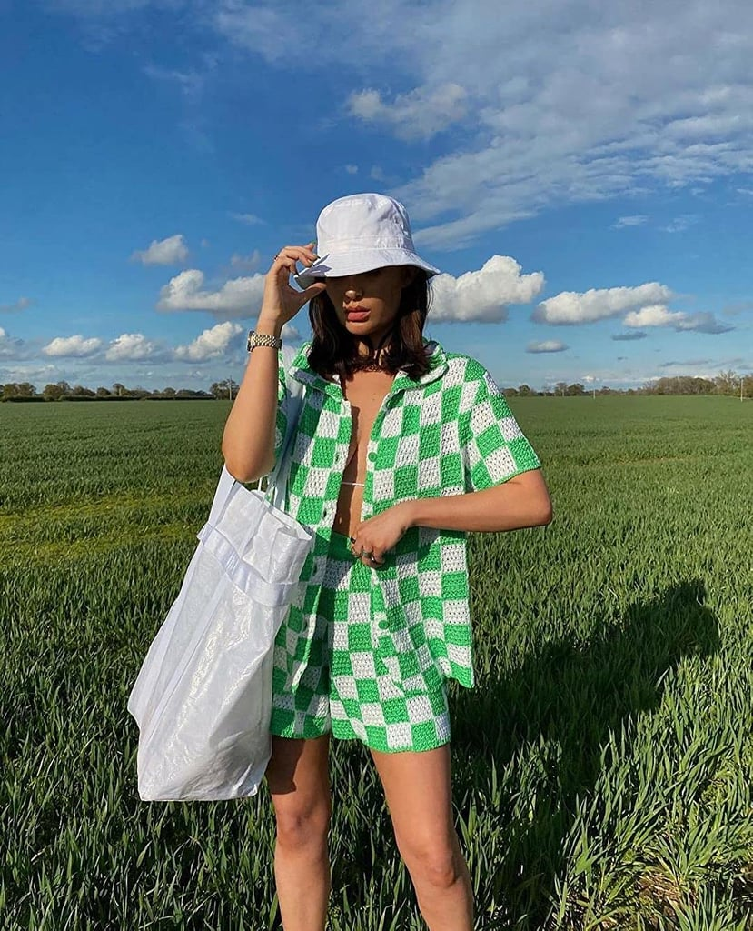 The Photo-Worthy Summer Look: Soliloquy Checkered Two-Piece Short Set