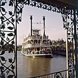 Parkgoers enjoyed a riverboat ride on the Rivers of America.
