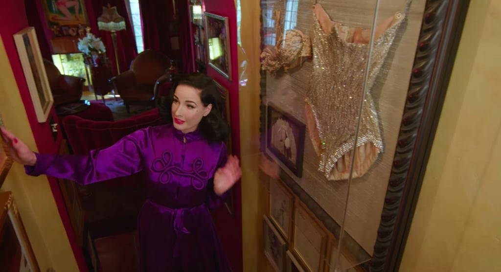 Dita has an impressive collection of Hollywood memorabilia, which includes a corset Natalie Wood wore in Gypsy, a corset once worn by Betty Grable, and Bettie Page's favorite shoes.