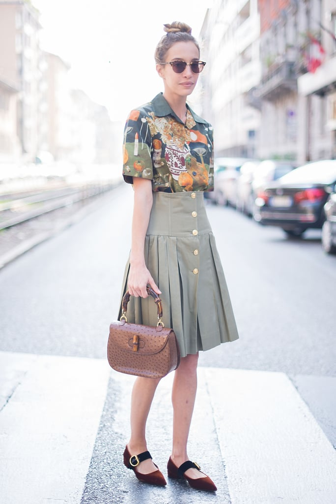 A sweet blouse and skirt are perfect for the office all Summer.