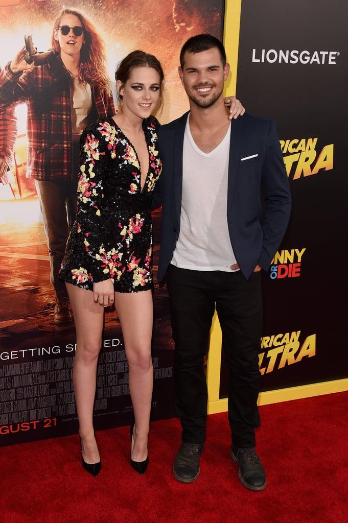 Kristen Stewart Taylor Lautner at American Ultra Premiere
