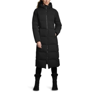 Eddie Bauer Glacier Peak Seamless Stretch Down Duffle Coat