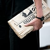 The most creative of clutches — yep, that's not a paper.
