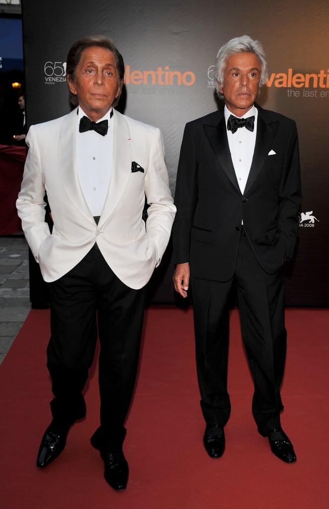 Valentino Garavani and Giancarlo Giammetti