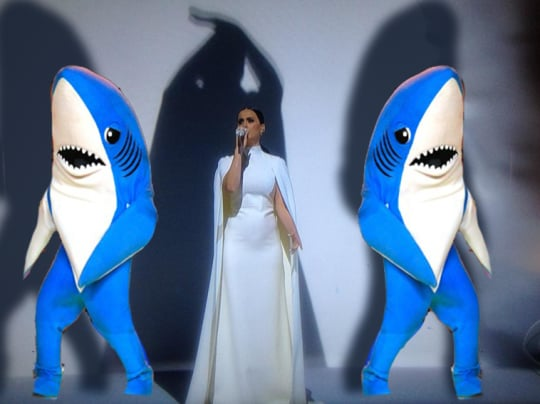 Everyone clearly missed the left shark and the right shark during Katy's performance.