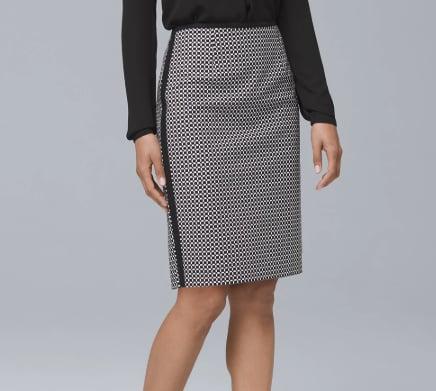 Geo Pencil Skirt